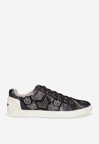 ASH grey Nash - Grey Embroidered Patch Sneakers BF655SH1E16461GS_1