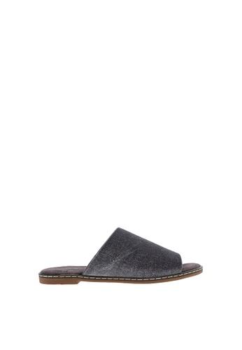 SEMBONIA grey Women Suede Flat Sandal 559CCSH213133BGS_1