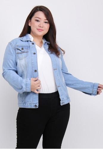 Jual Brielle Jeans Jaket Jeans 3346 Big Size Original