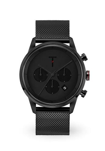 Tylor black Tribe Tlac009 Chronograph Watch TY212AC0JF6NPH_1