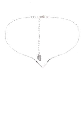 Orelia London silver V Clean Choker OR747AC0SC3TMY_1