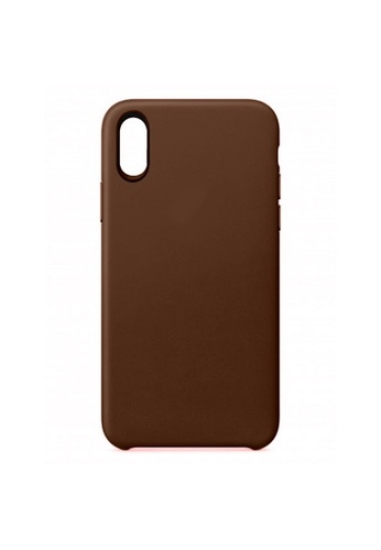 MobileHub brown iPhone XS Max Premium Slim Leather Case CFE0AACEDC4567GS_1