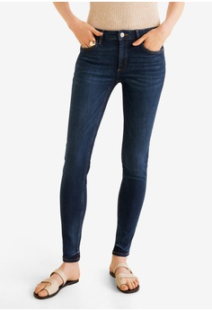 2e04ba1c94601 Mango blue Kim Skinny Push-Up Jeans F40C9AA1516032GS_1