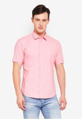 ESPRIT pink Woven Short Sleeve Shirt 5A349AA006F8F5GS_1