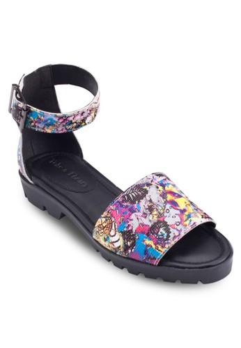 esprit macauZinnia 印花包跟繞踝涼鞋, 女鞋, 鞋