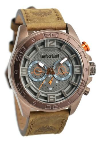Timberland Jam Tangan Pria Coklat Rosegold Leather Strap TBL14814JSQBN-61