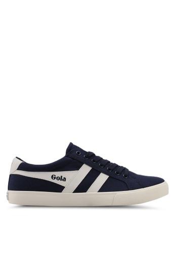 Gola white and navy Varsity Sneakers 7FC35SHF8E4E42GS_1