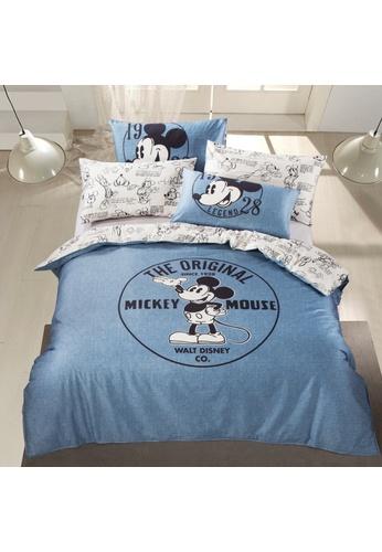 Eurotex Disney Mickey Mouse, Cotton Sateen, Fitted Bedsheet Set - 1928 Legend A. C4E7FHLF832364GS_1