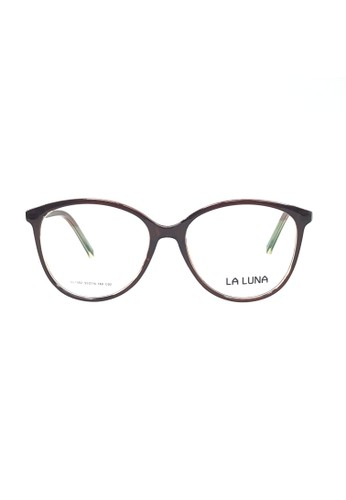 Ibrillen Optical brown LA LUNA 1002 - C02 Women Cat Eye Glasses Brown 883F2GL1E21BEDGS_1