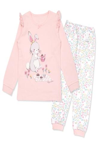 Organic mom pink Organic Girls Tea Rabbit Casual-wear Home-wear Pajamas 17CFFKA834CA34GS_1