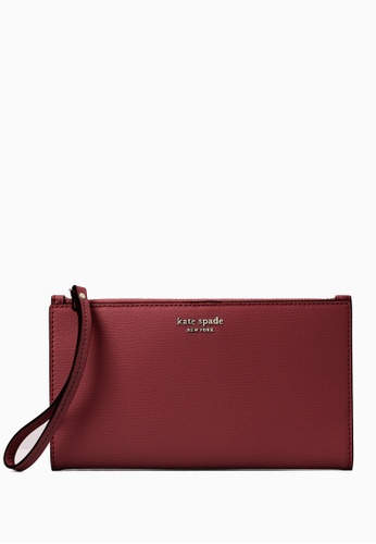 Kate Spade red Kate Spade Sylvia Large Continental Wristlet - Cherrywood 65F93ACEBE44D5GS_1