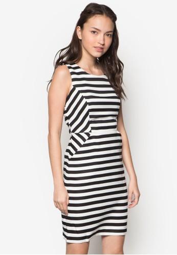 條紋無袖連身裙, 服飾, 服esprit 台北飾
