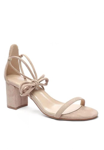 Twenty Eight Shoes beige Strap Lace Up Heel Sandal 5691-11 D9267SHA7B5302GS_1