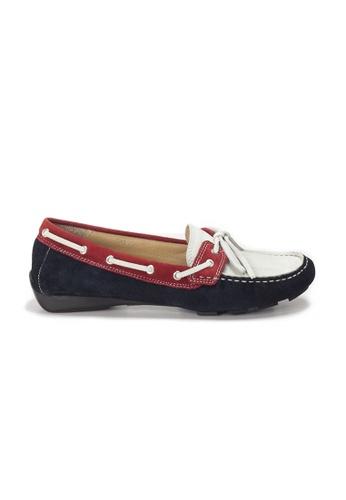 Shu Talk 海軍藍色 AMAZTEP 真皮彩虹輕便豆豆鞋 (適合腳型偏闊) E7A55SHB378D89GS_1