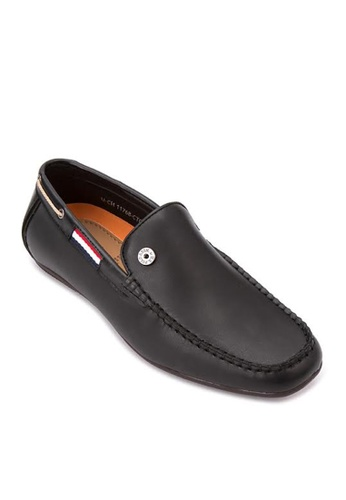 Greatvalueplus black U.S. Polo Assn. Genuine Leather Slip On Shoes For Men 60375SH0FF021CGS_1