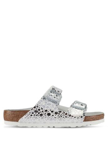 Birkenstock silver Arizona Metallic Stones Sandals A22D4SH1A859C2GS_1