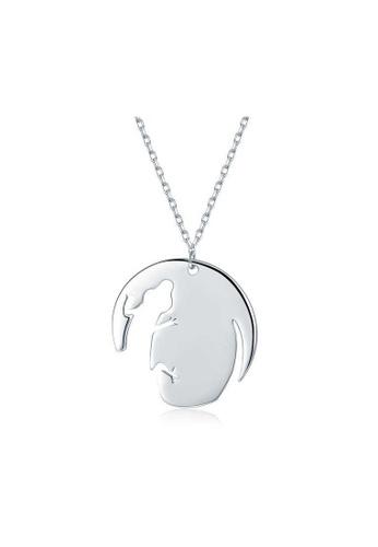 A-Excellence white Premium Elegant White Sliver Necklace 59176AC7A77220GS_1