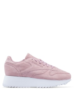 best loved 0819c 90e95 Reebok pink Classic Leather Double Shoes 8B074SH7AF079FGS 1