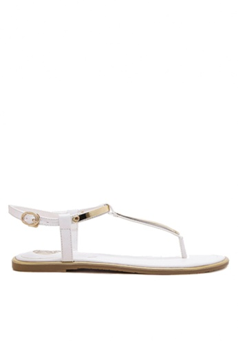 Twenty Eight Shoes black and pink and gold Sexy Toe Post Flat Sandals VS8858 D631DSH019B331GS_1