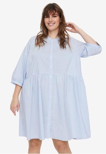Vero Moda white Plus Size Sisi 3/4 Dress 9A546AA9307355GS_1