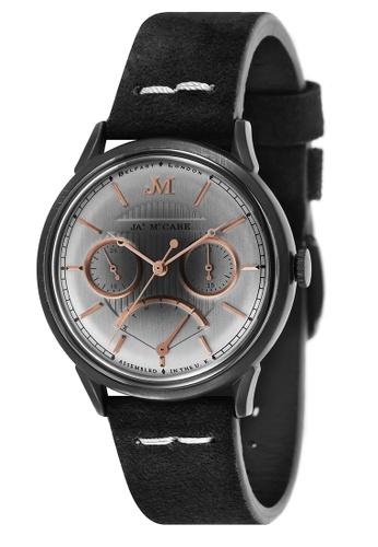 James McCabe black James Mccabe Men's Genuine Leather Strap Watch - JM-1026-09 FB941ACC133286GS_1