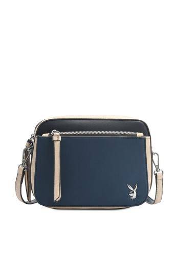 PLAYBOY BUNNY blue Ladies Sling Bag 647EEAC022692AGS_1