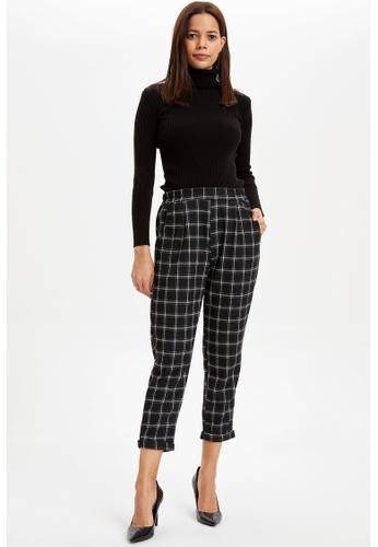 DeFacto black Woman Woven Bottom Trousers E41CFAA93B4EF4GS_1