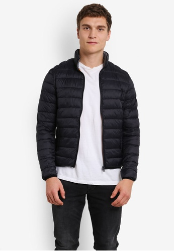 !Solid black Kendrick Medium Quilted Bomber Jacket SO701AA0S2W0MY_1