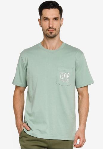 GAP green Pocket Detail T-shirt 7D4B7AA837AE09GS_1