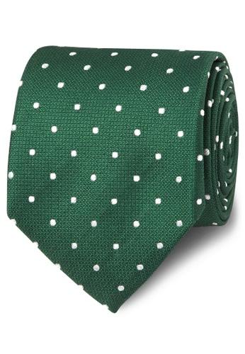 T.M. LEWIN green T.M.Lewin Green and White Spot Silk Tie 292DBACE3A81C0GS_1