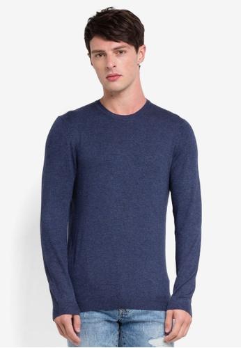 OVS 藍色 圓領針織上衣 DAA59AA45395D0GS_1