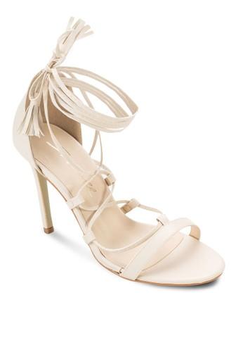 Lace Up Tassels Sandal Heels, esprit童裝門市女鞋, 鞋