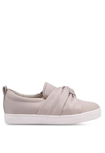 Velvet 米褐色 扭結懶人鞋 A6E3FSHCA3F9FAGS_1