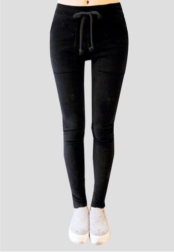 燈芯絨休閒運動褲, 服飾zalora時尚購物網的koumi koumi, 緊身褲