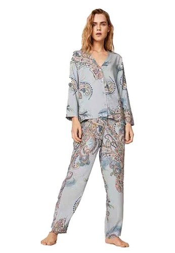Seoul in Love grey and white and blue Liona Set two piece 373E9US6C07EC4GS_1