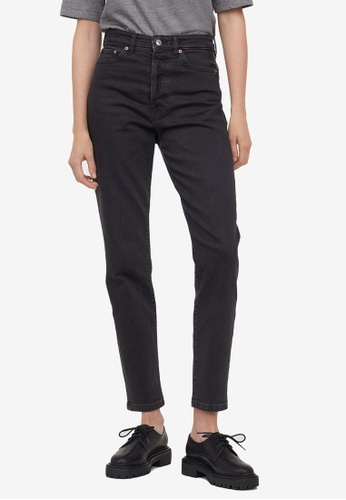 H&M black Mom High Ankle Jeans 847F0AACCFAC5FGS_1