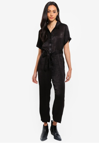 Cotton On black Woven Sass Short Sleeve Boiler C71EBAA60B0309GS_1