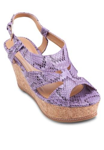厚底楔esprit hk分店型跟涼鞋, 女鞋, 楔形涼鞋