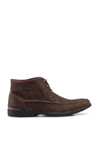 Matarazo brown Melvin Faux Leather Boots 23E32SH062B059GS_1