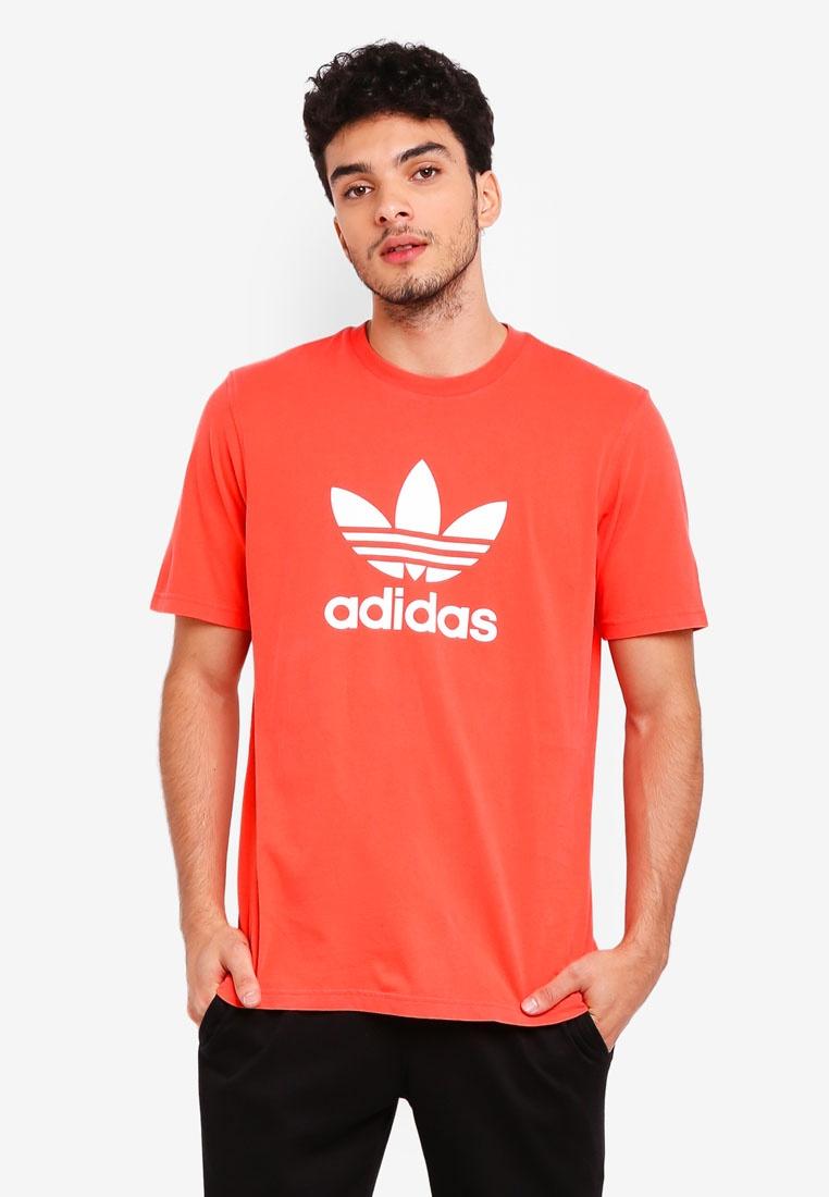 Red adidas shirt originals trefoil Bright adidas t B4wf4xrnpq