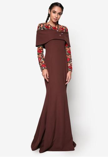 Jovian Mandagie for Zalora brown Zavanna Dress JO948AA64WOHMY_1