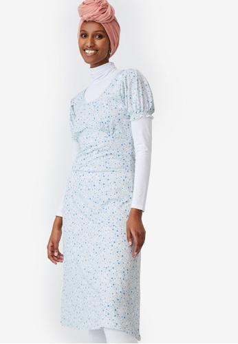 Cotton On white Elina Short Sleeve Midi Dress 3151CAACAFB9A5GS_1