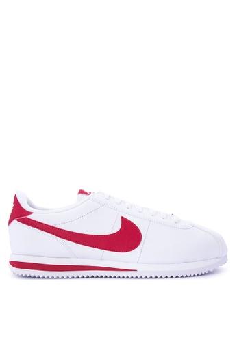 Nike white Men's Nike Cortez Basic Leather Shoes NI126SH0STS5MY_1