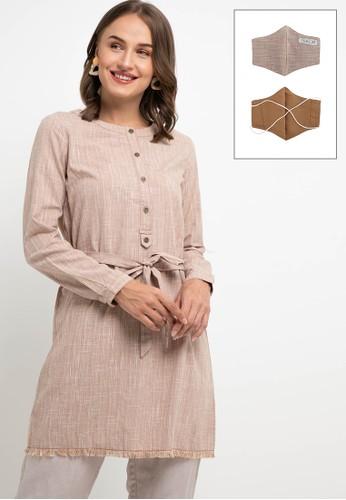 Expand brown Rahudha Blouse 9491CAAB931F4BGS_1