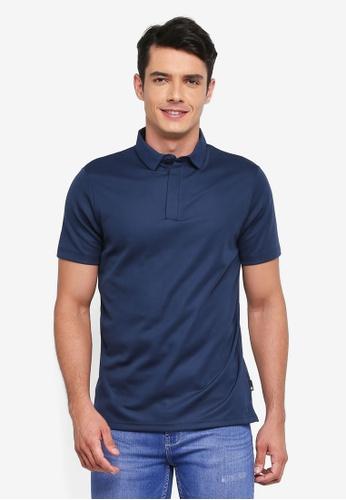 Burton Menswear London 海軍藍色 素色休閒POLO衫 12F0AAA22B9AA0GS_1