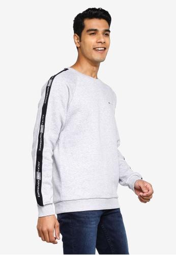 Jack & Jones grey Finn Crew Neck Sweatshirt 580A5AA93BEB3EGS_1