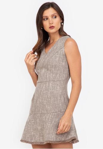 ZALORA WORK multi Sleeveless Tweed Dress B09A2AAD88EEFCGS_1