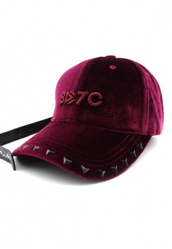 DOSSCAPS red HATER X7 Crash Velvet Cap (Crimson)  DO290AC0S6IGMY_1