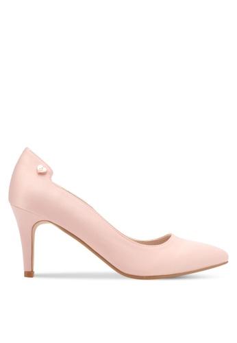 Velvet 粉紅色 Heel with Embellishment B28D3SH81CD5FAGS_1