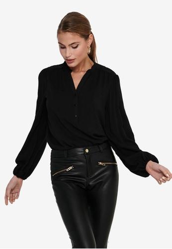 JACQUELINE DE YONG black Marlon Woven Shirt E03BEAA0D9412AGS_1